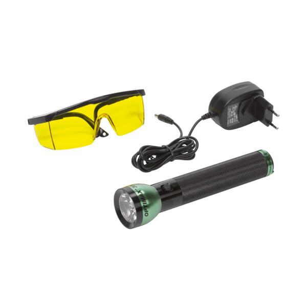 Battery powered LED UV leak detection lamp